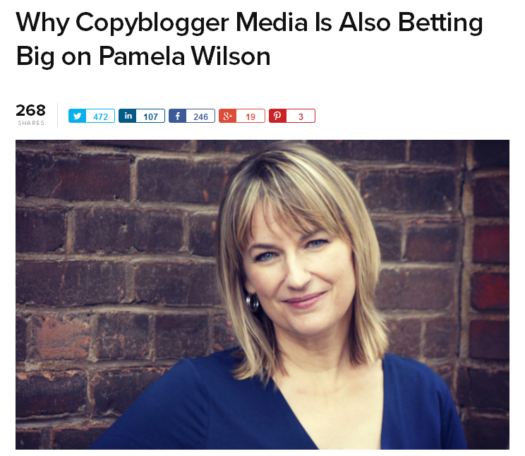 Why Copyblogger Media Is Also Betting Big on Pamela Wilson