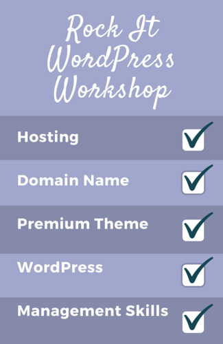 Make your own website workshop checklist